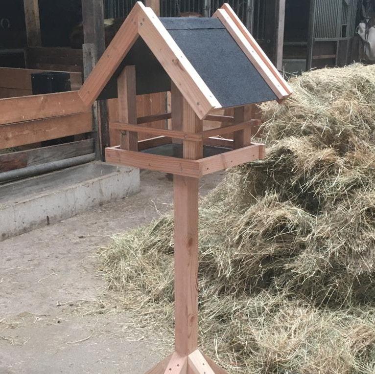Robuust Vogelvoederhuis Op Paal